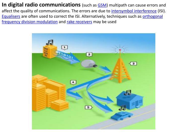In digital radio communications