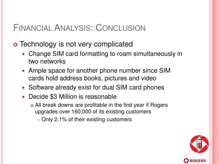 Financial Analysis: Conclusion