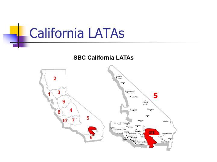 California LATAs