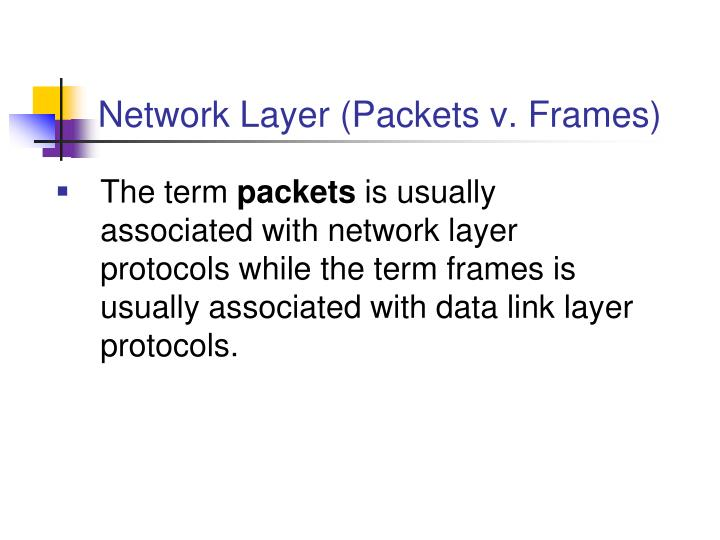 Network Layer (Packets v. Frames)
