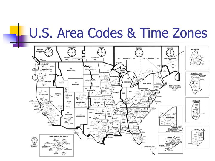 U.S. Area Codes & Time Zones