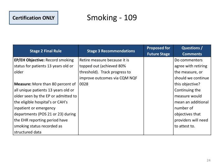 Smoking - 109
