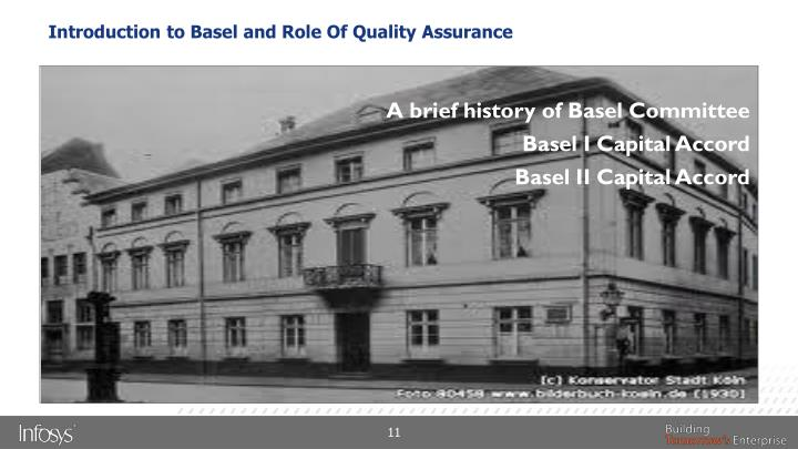 Introduction to Basel and Role Of Quality Assurance