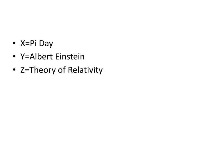 X=Pi Day