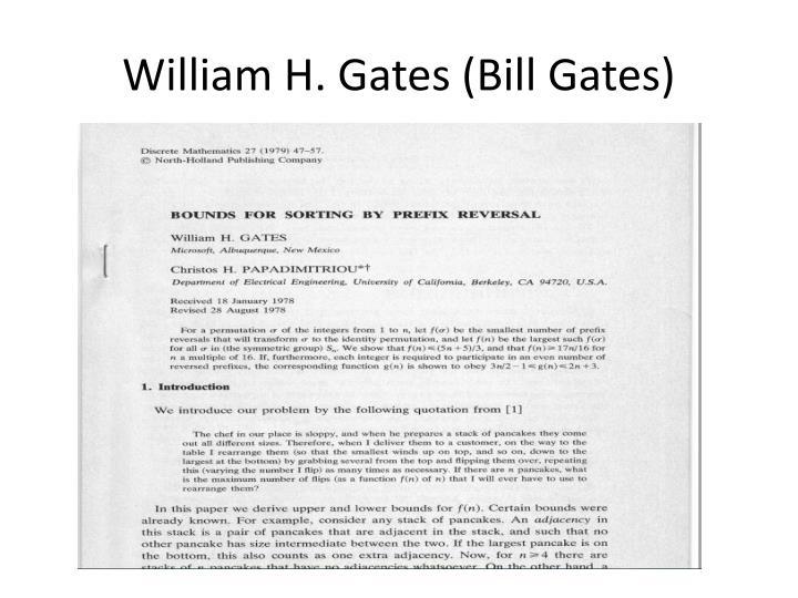William H. Gates (Bill Gates)