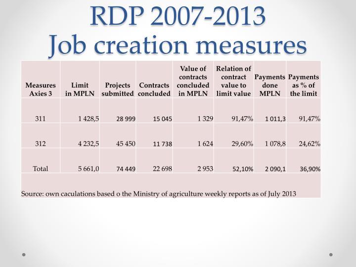 RDP 2007-2013