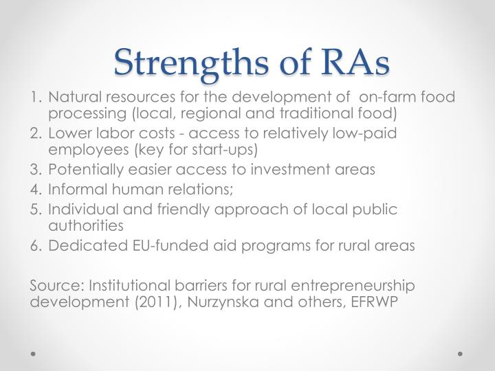 Strengths of RAs