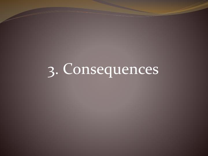 3. Consequences