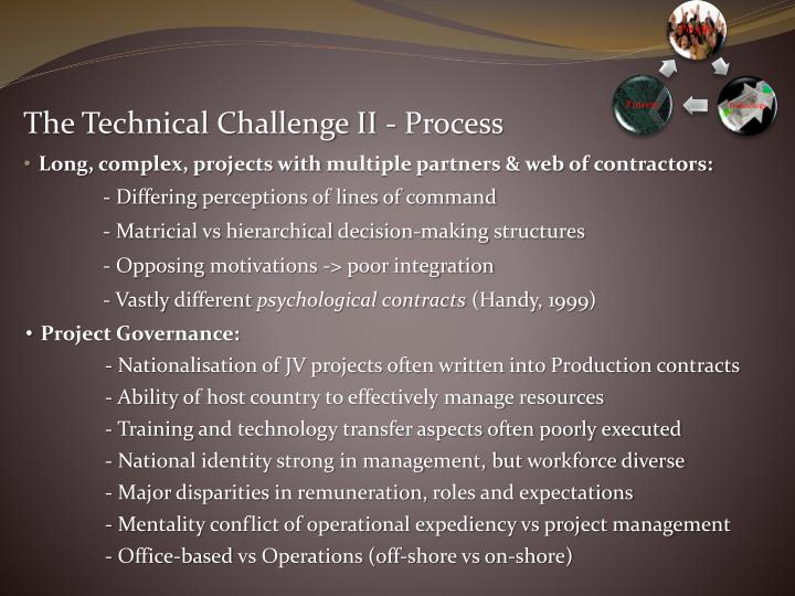 The Technical Challenge II