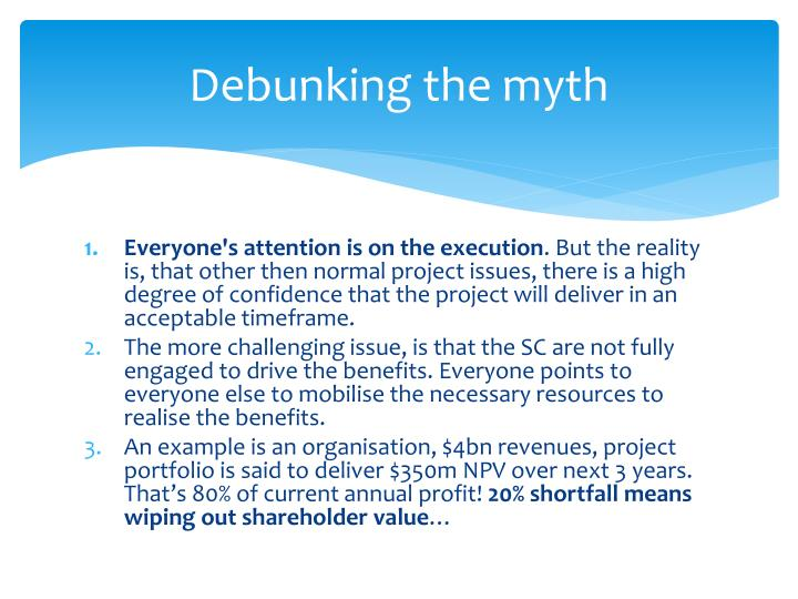 Debunking the myth