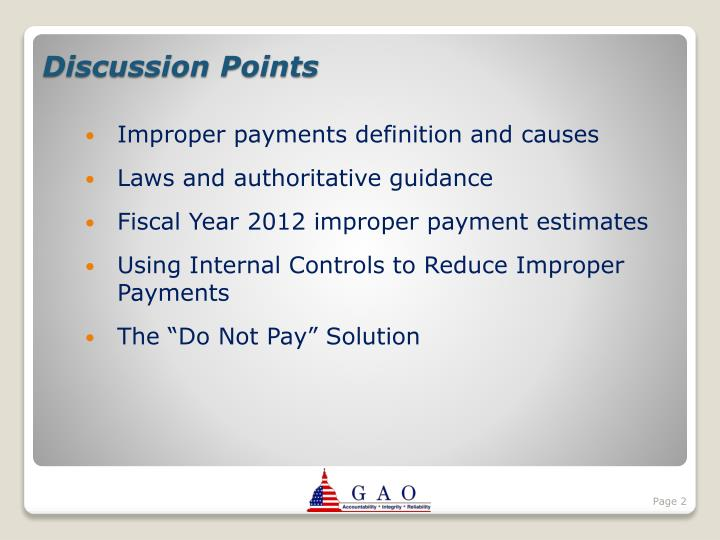 Improper payments definition and causes