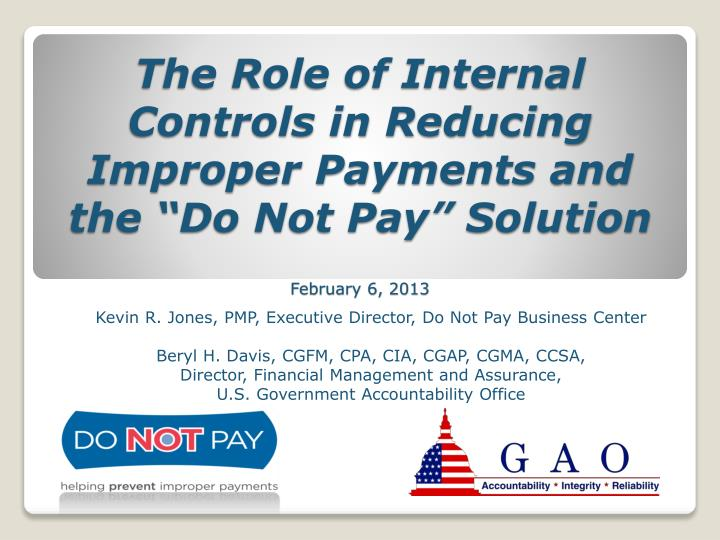 The Role of Internal Controls in Reducing Improper Payments