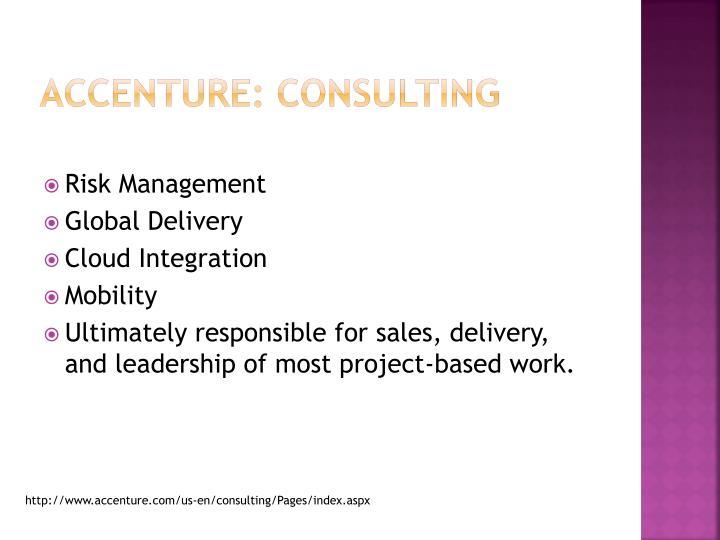 Accenture: Consulting