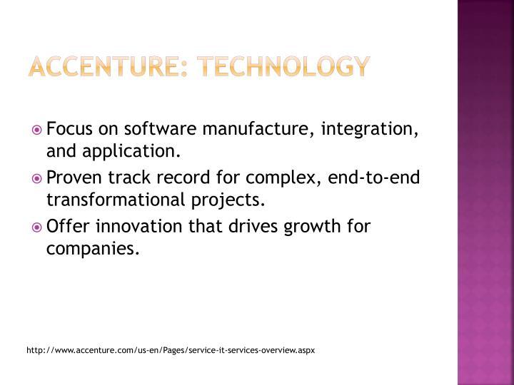 Accenture: technology
