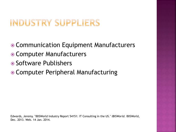 Industry Suppliers
