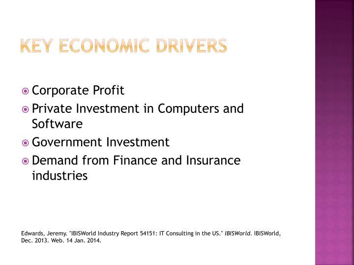 Key economic drivers