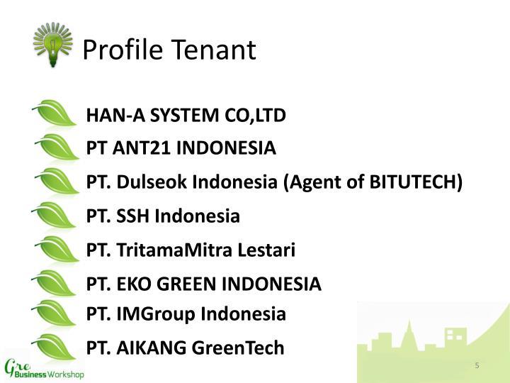 Profile Tenant