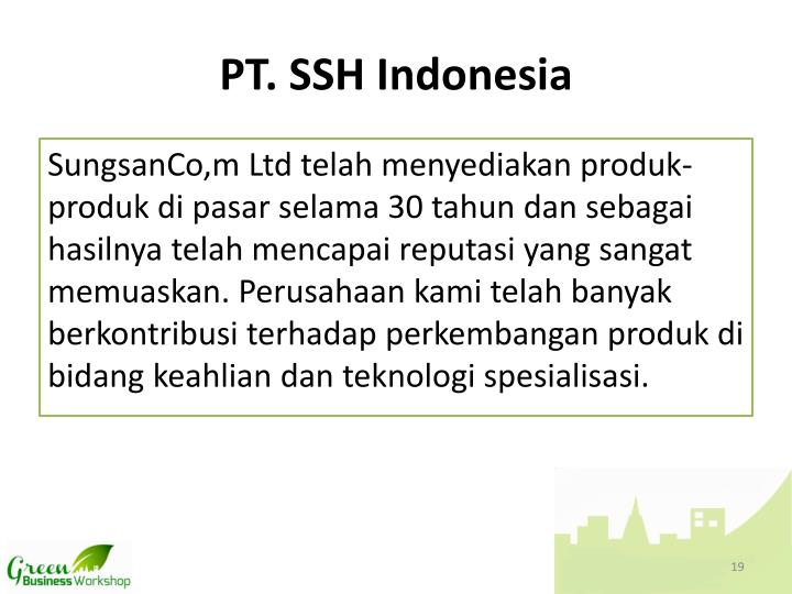 PT. SSH Indonesia