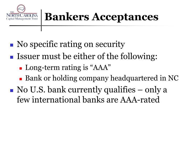 Bankers Acceptances