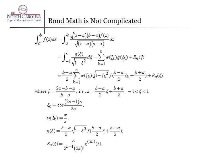 Bond Math is Not Complicated