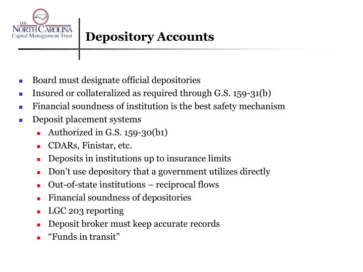 Depository Accounts