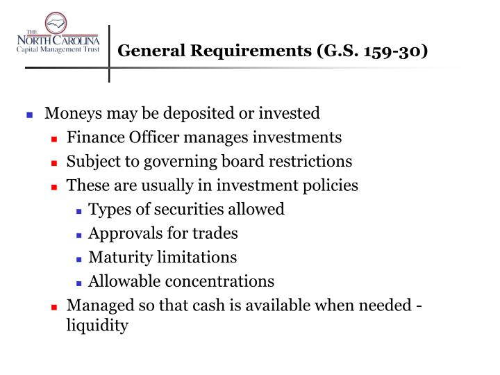 General requirements g s 159 30