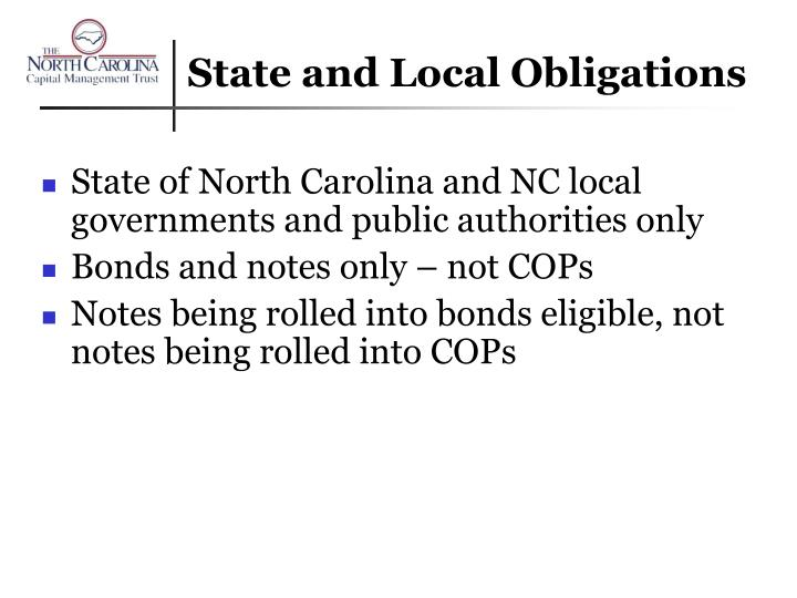 State and Local Obligations
