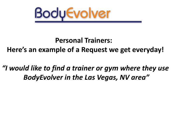 Personal Trainers: