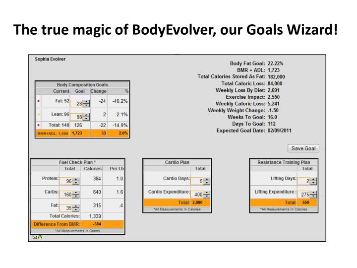 The true magic of BodyEvolver, our Goals Wizard!