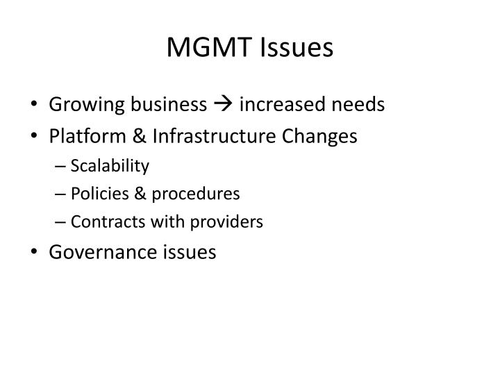 MGMT Issues