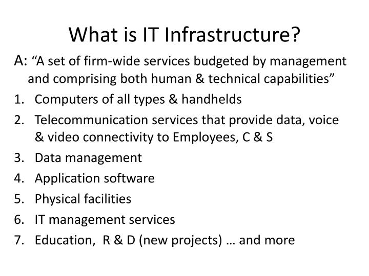 What is IT Infrastructure?