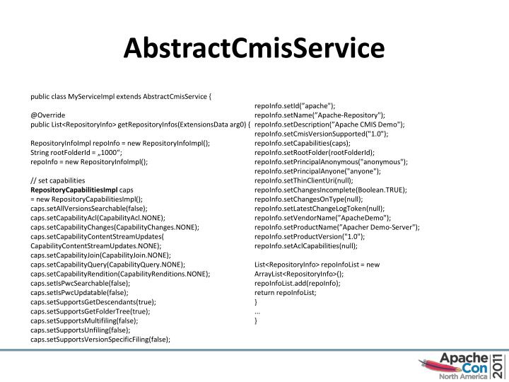 AbstractCmisService