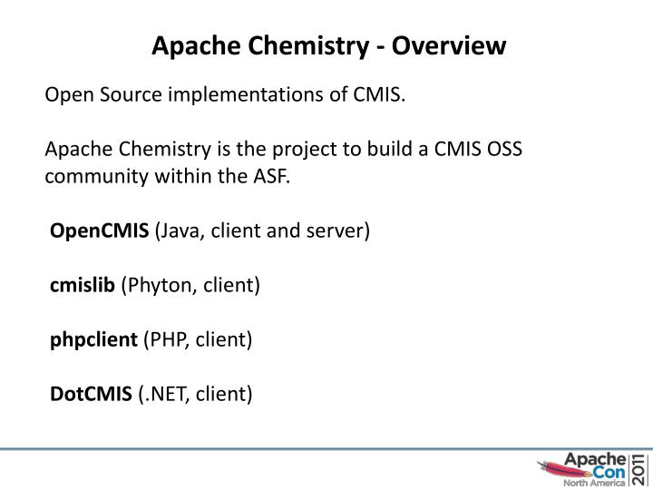 Apache Chemistry - Overview