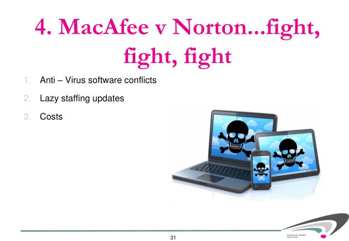 4. MacAfee v Norton...fight, fight, fight