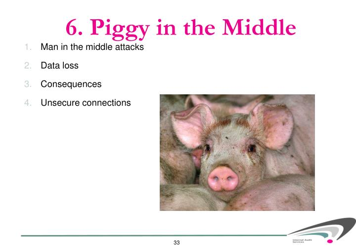 6. Piggy in the Middle