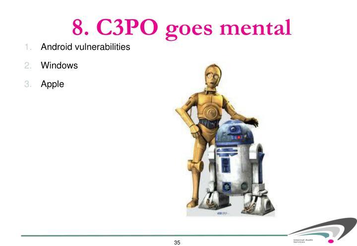 8. C3PO goes mental