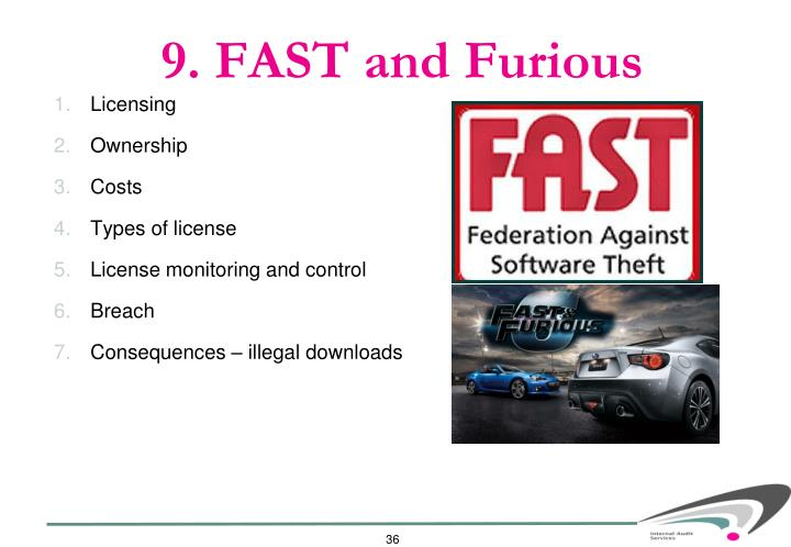 9. FAST and Furious