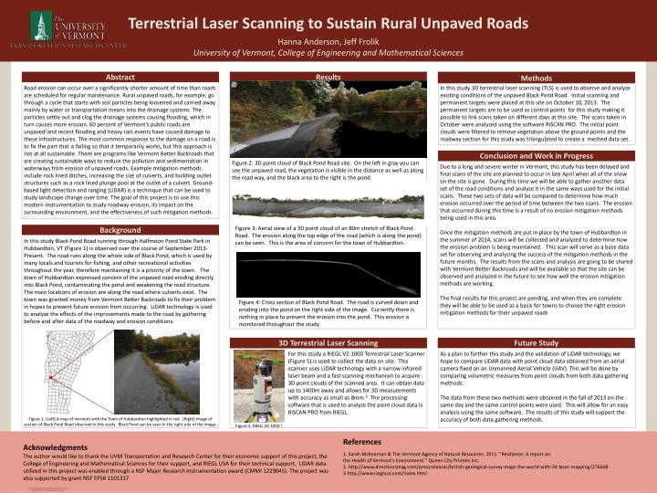 Terrestrial Laser Scanning to Sustain Rural Unpaved Roads