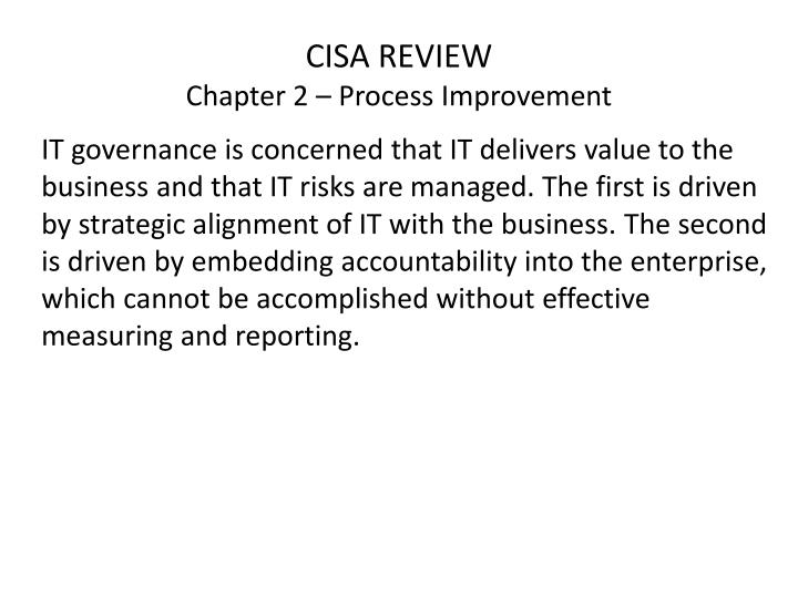 CISA REVIEW