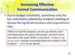 increasing effective formal communication