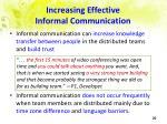 increasing effective informal communication