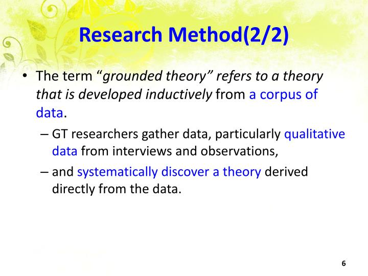 Research Method(2/2)