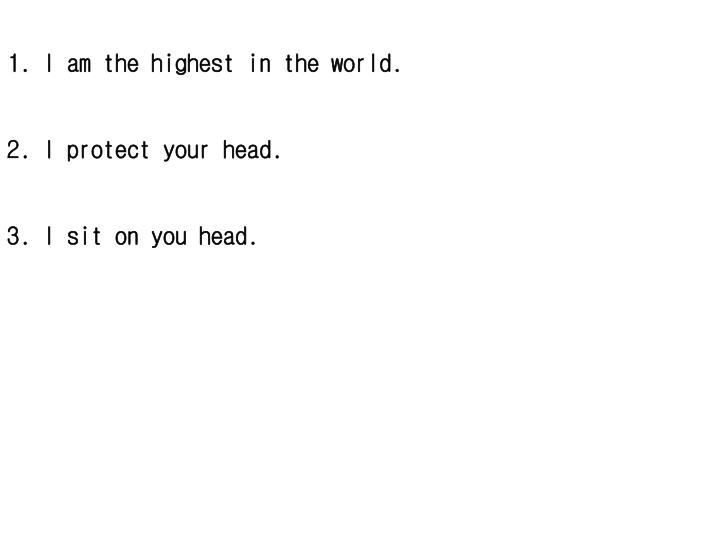 I am the highest in the world.