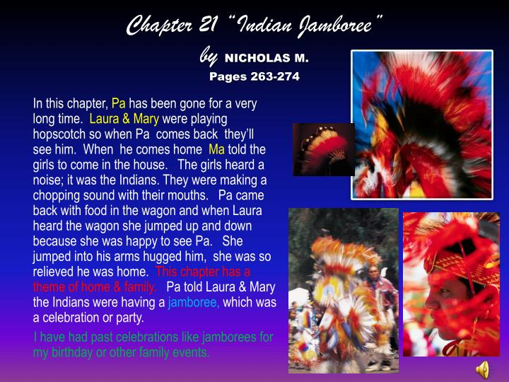 "Chapter 21 ""Indian Jamboree"""