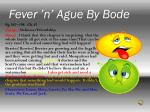 fever n ague by bode