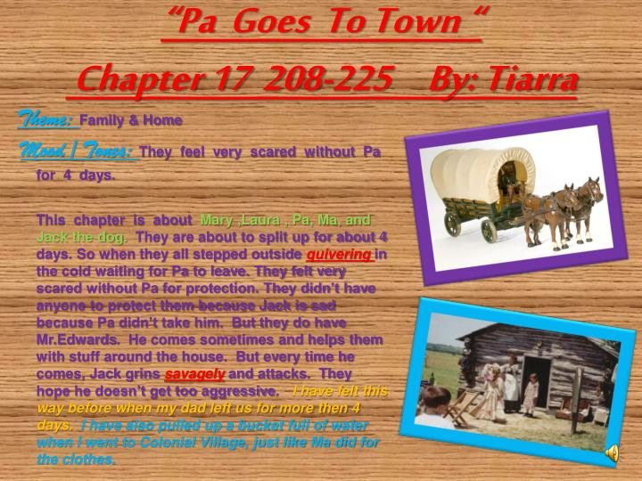"""Pa  Goes  To Town """