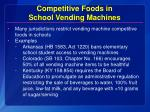 competitive foods in school vending machines
