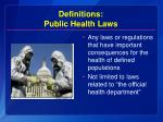 definitions public health laws