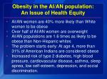 obesity in the ai an population an issue of health equity