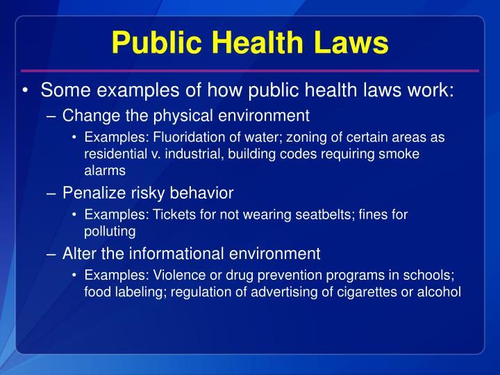 Public Health Laws